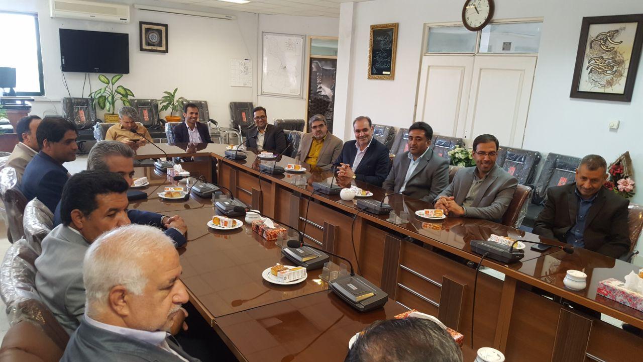 دیدار شهردار و اعضای شورای اسلامی شهر با رئیس دادگستری و دادستان به مناسبت هفته قوه قضائیه
