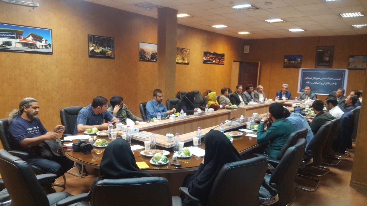 نشست هم اندیشی شهردار نیشابور با اصحاب رسانه برگزار شد