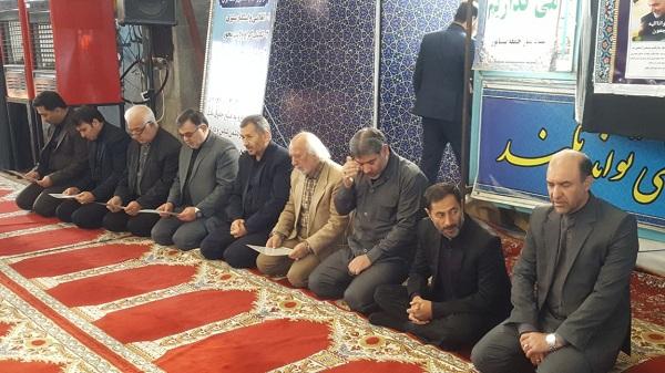 """برگزاری مراسم عزاداری شهادت """"سردار سلیمانی"""" در مهدیه نیشابور"""