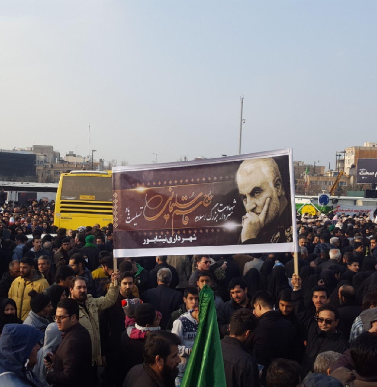 هزاران نیشابوری در مراسم تشییع سردار سلیمانی شرکت کردند