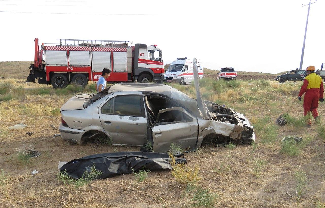 خارج شدن خودرو سمند از جاده موجب مرگ راننده شد