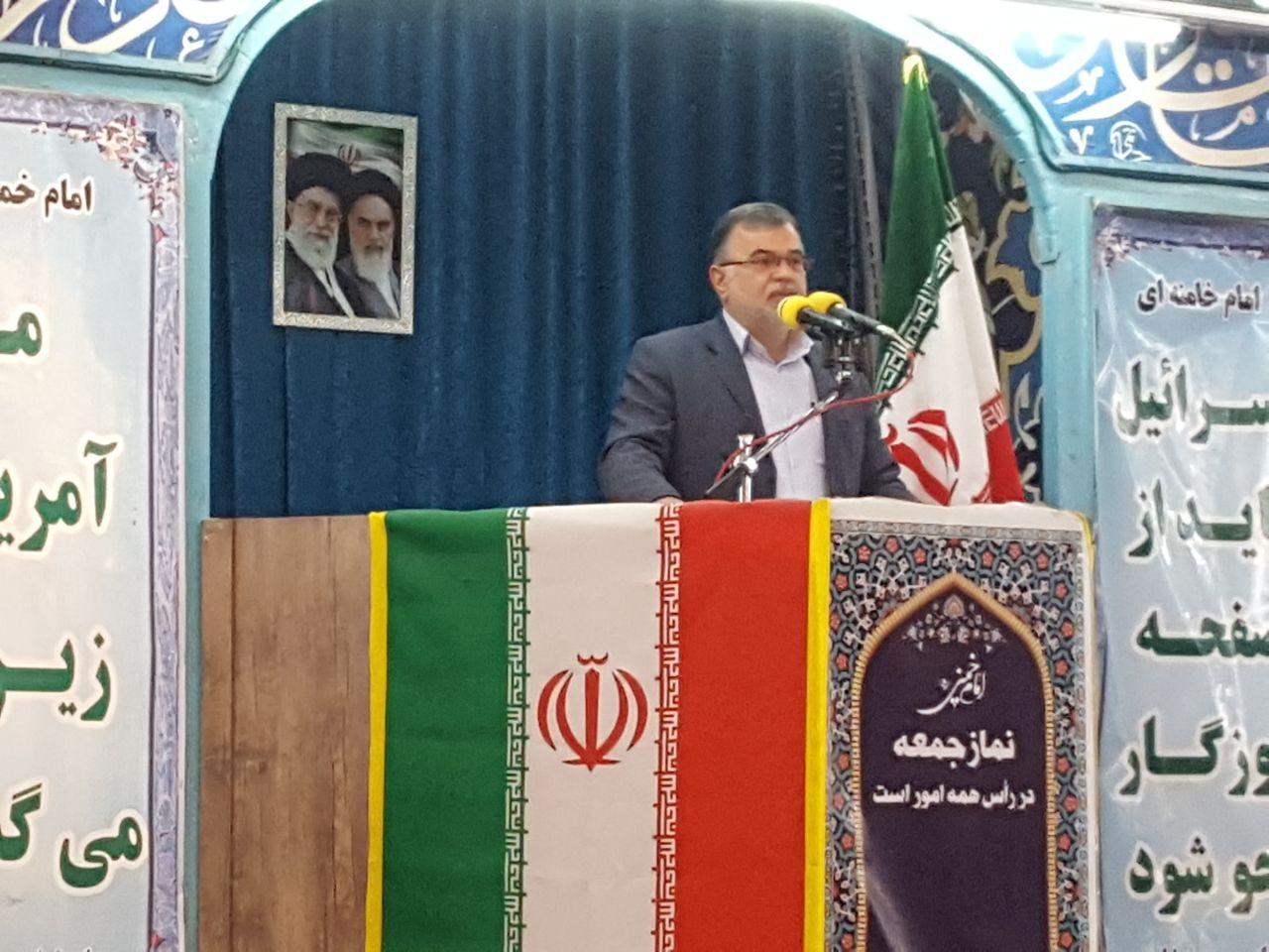 سخنان علی نجفی شهردار نیشابور پیش از خطبه های نماز جمعه به مناسبت فرارسیدن روز درختکاری