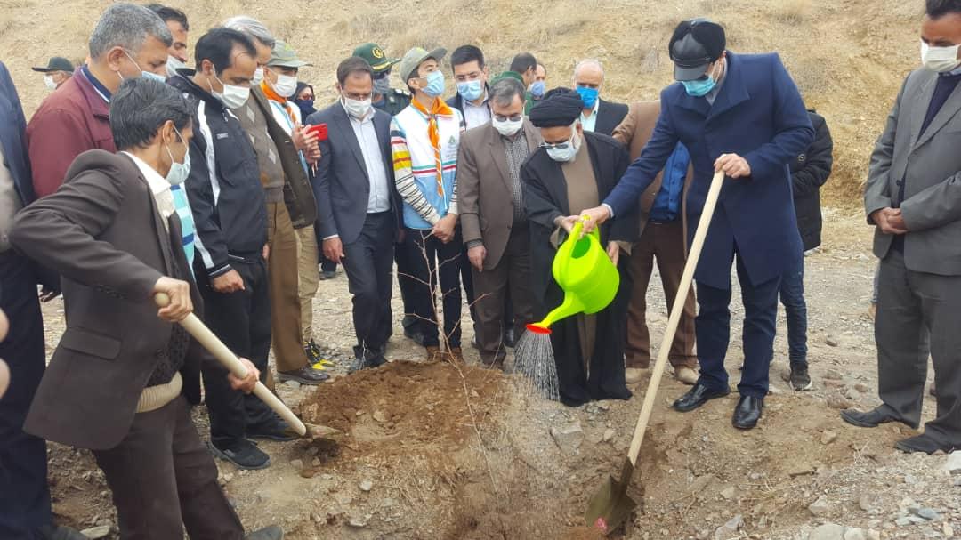 برگزاری مراسم هفته درختکاری توسط شهرداری نیشابور