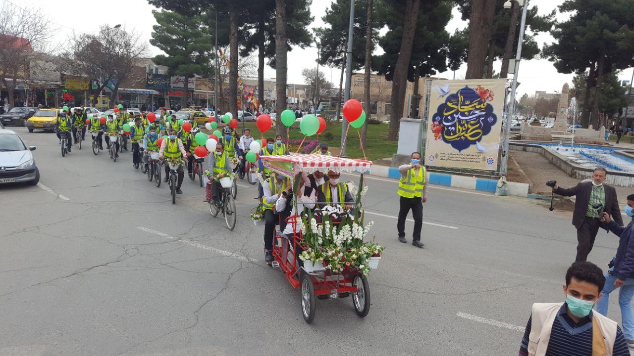 بزرگترین کاروان گل و دوچرخه ویژه استقبال از بهار در نیشابور