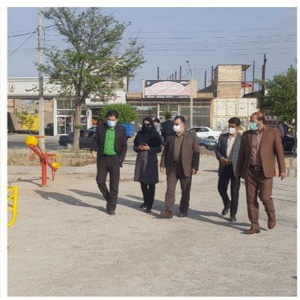 بازدید میدانی شهردار نیشابور و مدیران شهری از بوستان های در حال احداث
