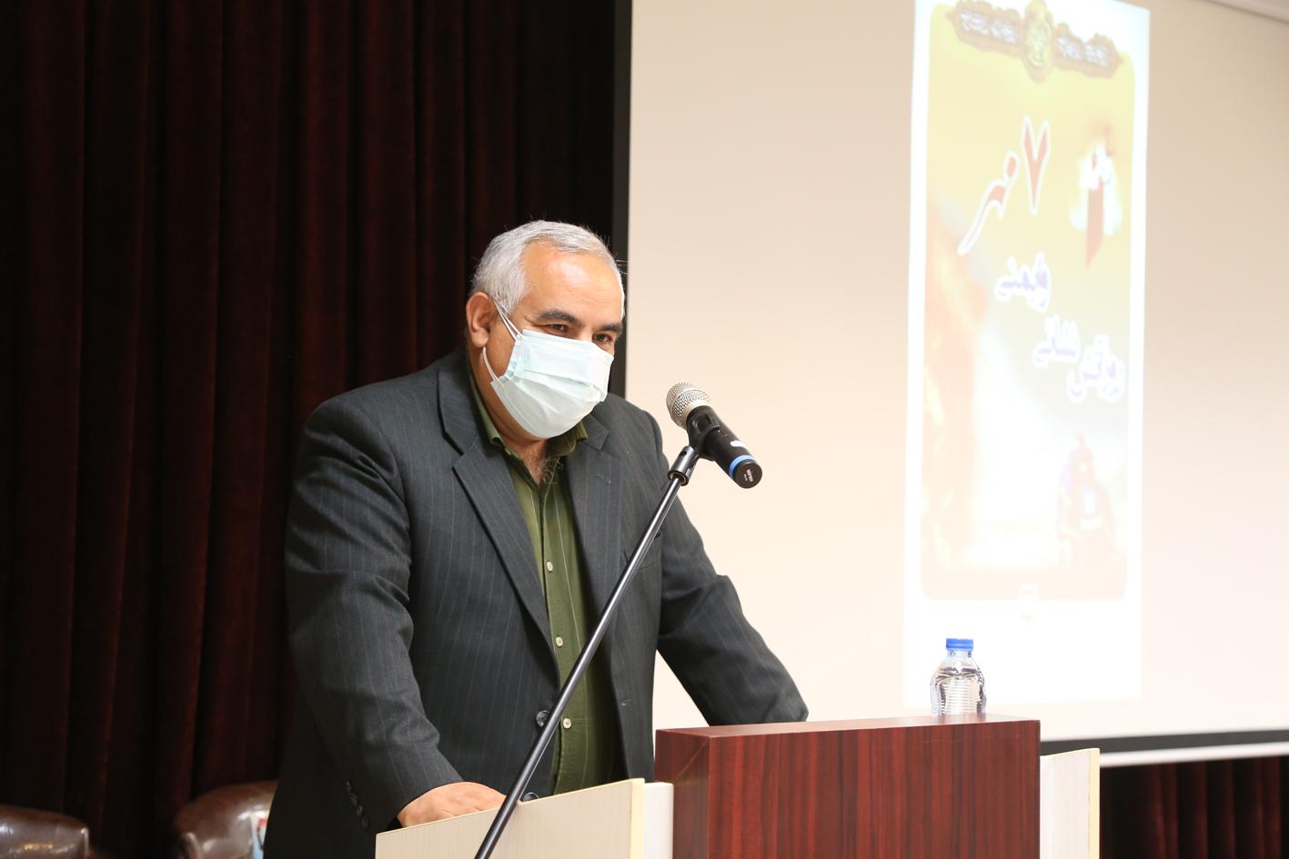 مراسم گرامیداشت 7 مهرماه روز آتش نشانی و ایمنی در سالن شهید آوینی شهرداری نیشابور