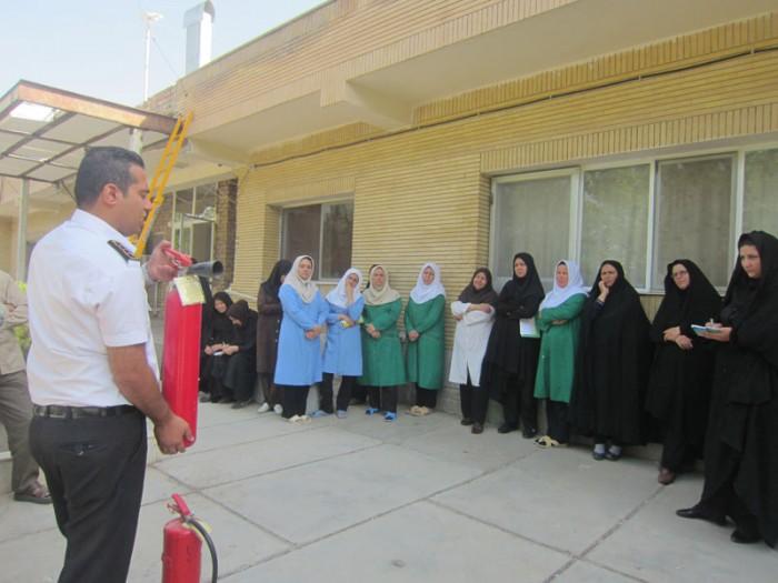 کارکنان موسسه خیریه  17 شهریور آموزش ایمنی و آتش نشانی را فراگرفتند