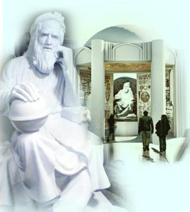 جانمایی مجسمه خیام اثر پرفسور فخیمی  با حضور هنرمندان صورت گرفت