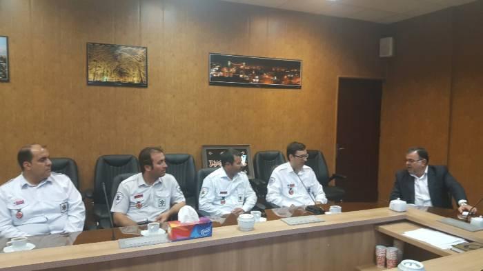دیدار مدیر و کارکنان مرکز مدیریت حوادث و فوریت های پزشکی با شهردار نیشابور